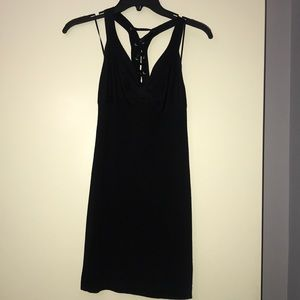 Guess black dress with lace up detailed back